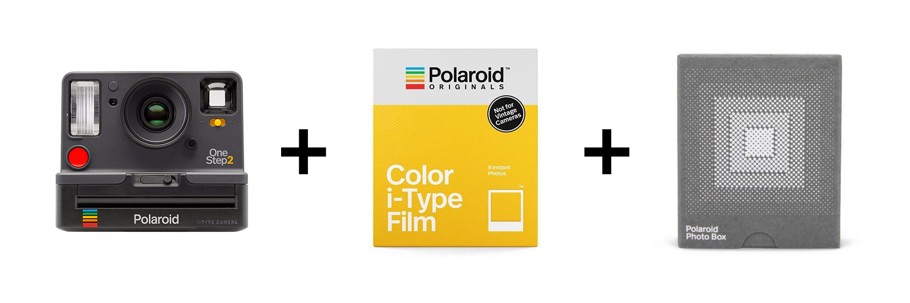 Polaroid Originals | OneStep2 Camera | Viewfinder | Graphite | Everything Box | FotoFilmFabriek