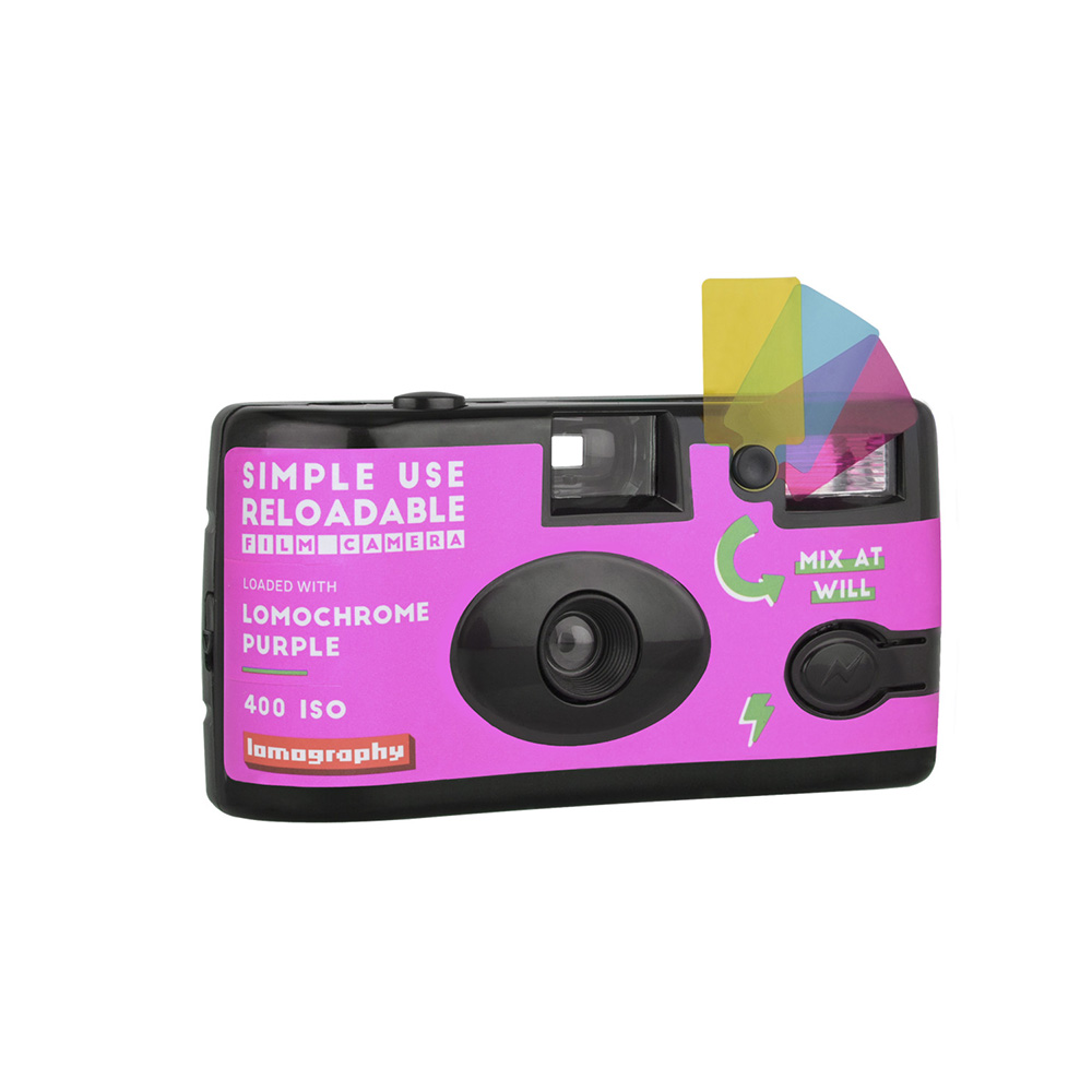 Lomography Lomochrome Purple | Simple Use Film Camera loaded with Lomochrome Purple Film| Mix at Will | FotoFilmFabriek | Het Magazijn Dordrecht