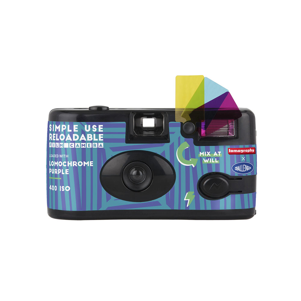 Lomography Simple Use Reloadable Film Camera | Lomochrome Purple – Challenger Edition | FotoFilmFabriek | Het Magazijn Dordrecht